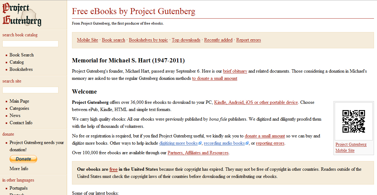 how to cite project gutenberg