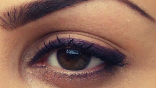 Purple colors best improve brown eyes with hazel flecks
