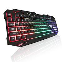 Juego de K10 teclado profesional interruptores Metal cable de USB juego de teclado 112 clave macho y jugar para Pro PC Gamer impermeable