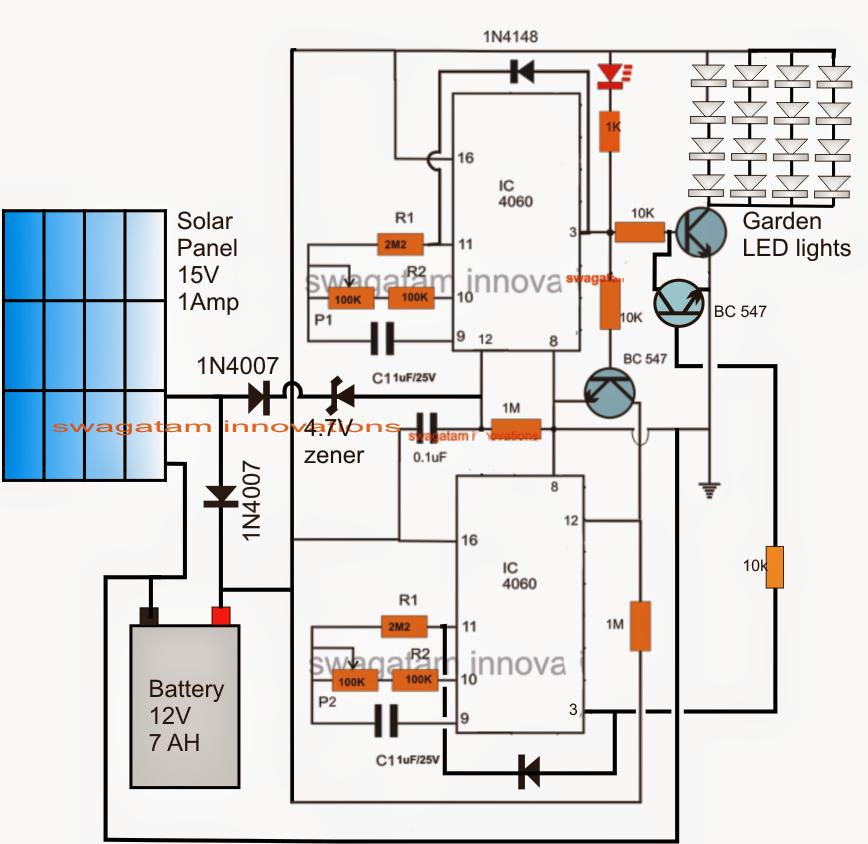 Solar Garden Light with Programmable Timer Circuit