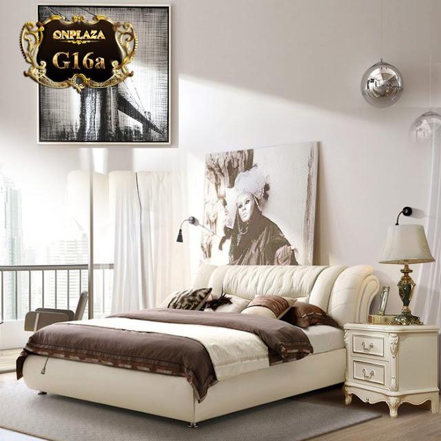 Giường gỗ hiện đại bọc da giá rẻ G16