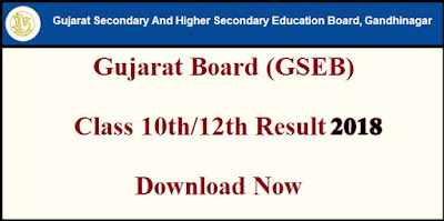 Gujarat Board (GSEB) 10th Class Result 2018