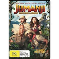DVD cover image of Jumanji welcome to the jungle