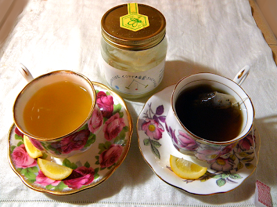 Two Cups of Tea with Lemon and Honey