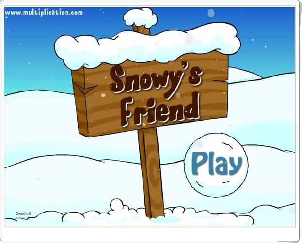 """""""Suma con Snowy"""" (Juego de Suma hasta el número 9)"""