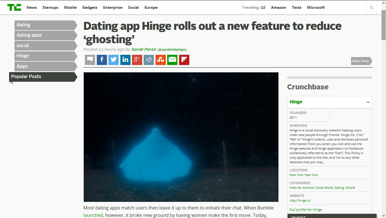 techcrunch dating app dating sites for college professors