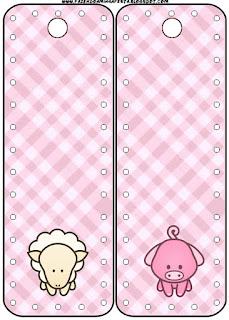 Para marcapáginas de La Granja Bebés en Rosa.