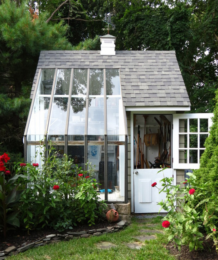 12 backyard sheds you can diy or buy poppytalk for Potting shed plans diy blueprints