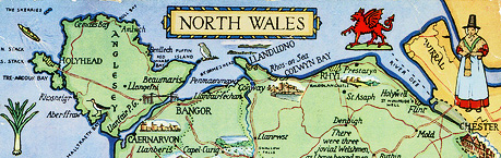 Map North Wales