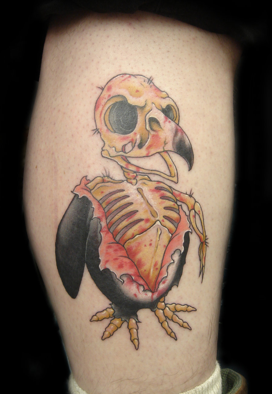 Dead Penguin Tattoo By Slipslopslap
