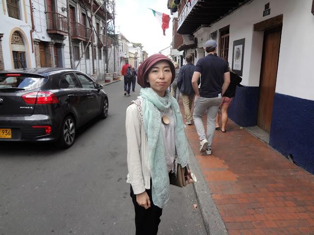 ボゴタ市内でスリに遭いそうになった日本人女性