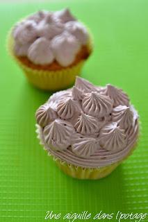 cupcakes (ganache montée chocolat blanc) douille 4B