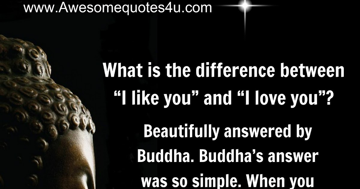 beautiful quotes difference between i like you and i love you