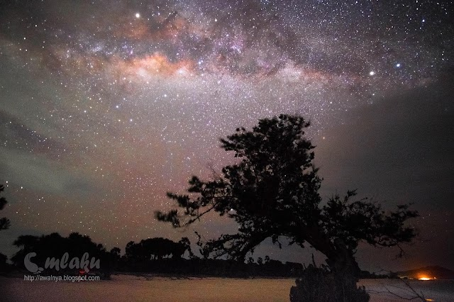 Milkyway di Atas Langit Pantai Liman