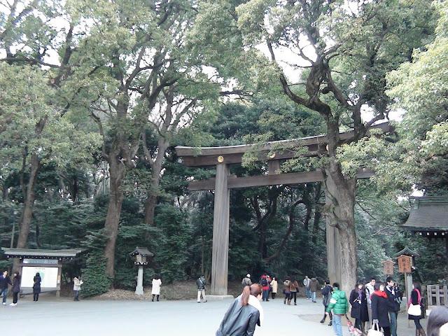 Entrada al templo Meiji en Tokio