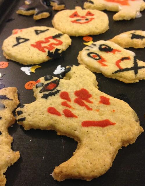 Sweet kwisine, biscuits, cookies, Halloween, sablés, vanille,fantô