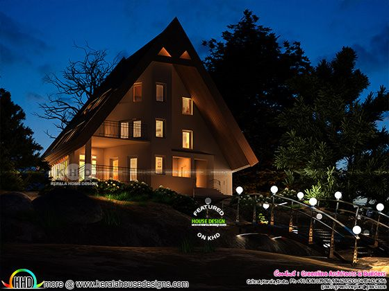 1300 sq-ft proposed cottage home architecture at Wayanad, Kerala