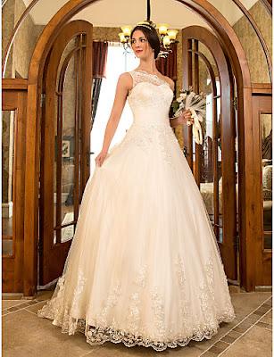 Vestidos de encaje de novia