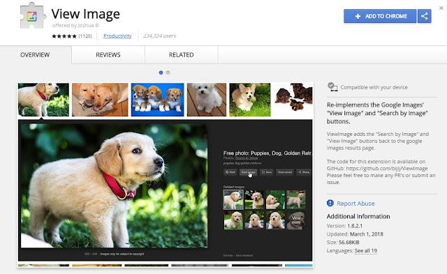 You Can Bring Back Google View Image Button Chrome Extension गूगल के View Image बटन का भी तोड़ आ गया