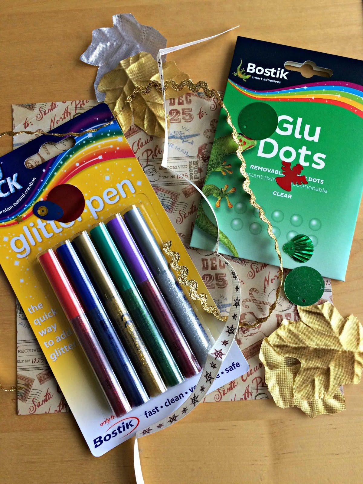 Bostik Glue Dots & Glittery Pens