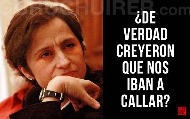 Para Fortune, Carmen Aristegui ocupa un lugar entre los 50 líderes del mundo