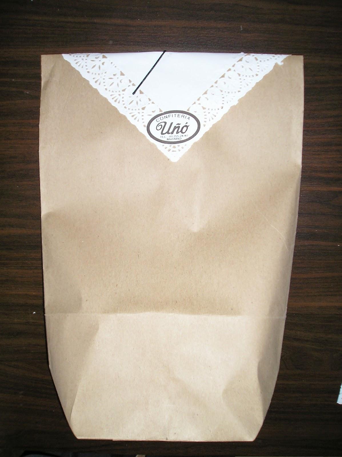 bolsa de papel estraza antigua