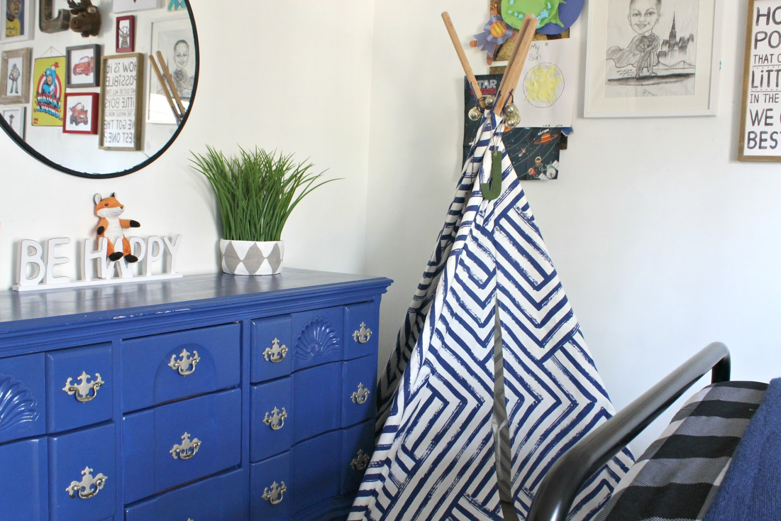 Big Boy Room Reveal: A Woodsy, Creative, Imaginitive Space