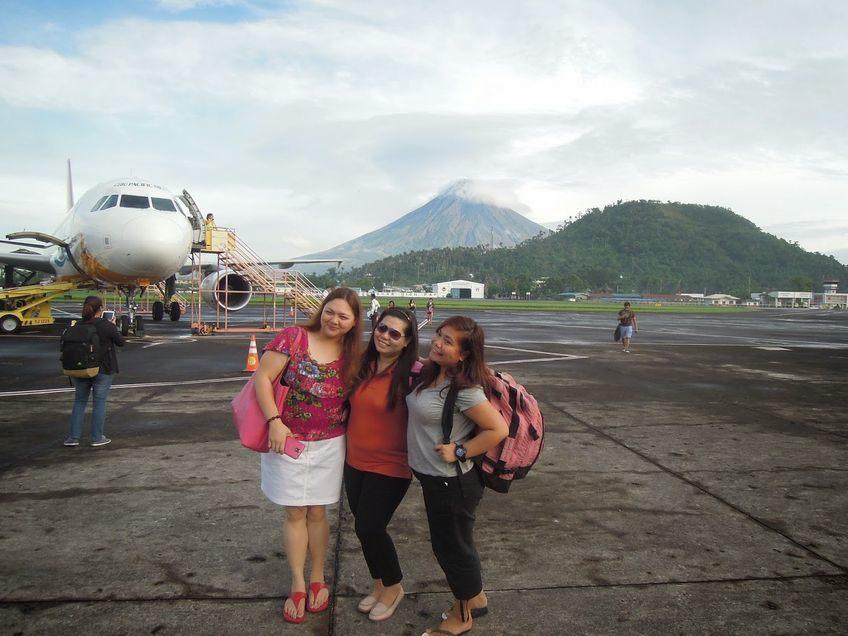 Arrival at Legazpi Domestic Airport in Albay