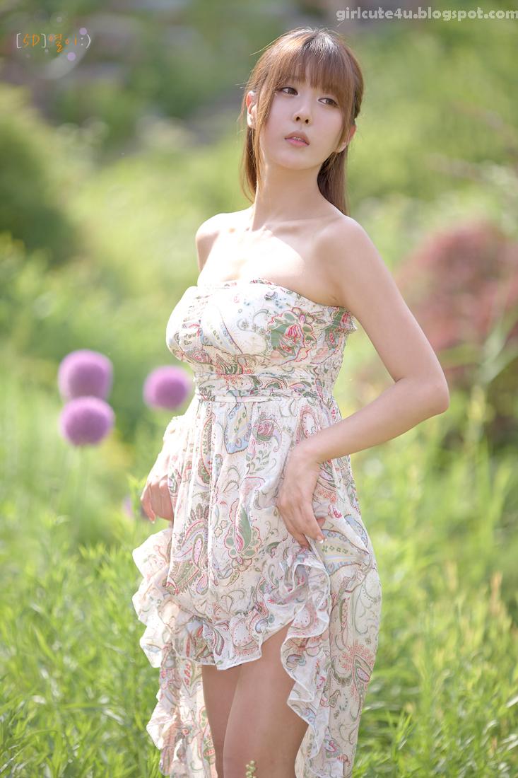 Xxx Nude Girls Heo Yun Mi  Outdoors In A Strapless Dress-7602