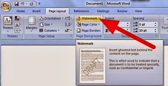 How To add a Watermark to MS Word Document