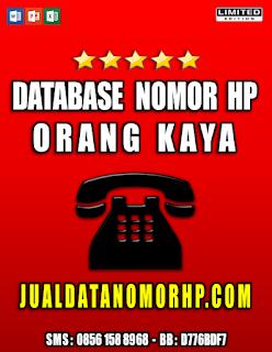 Jual Database Nomor HP Orang Kaya