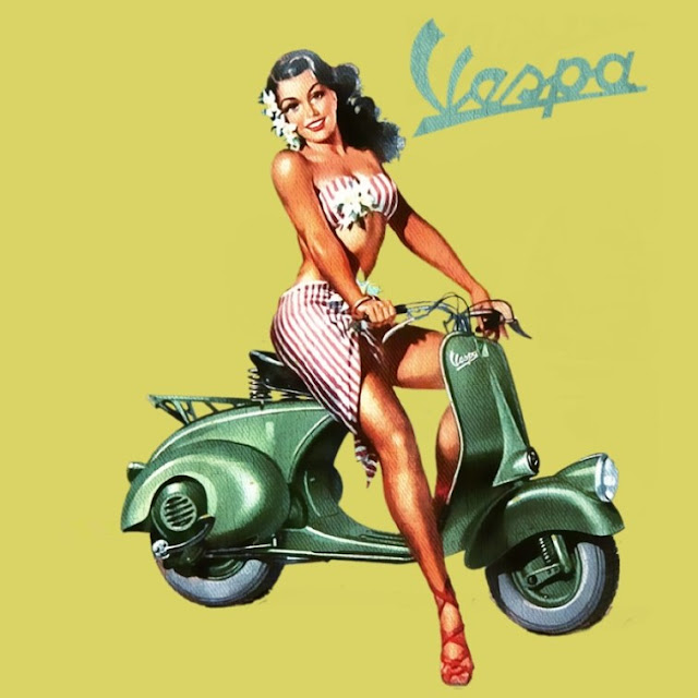 Pin Up Vespa