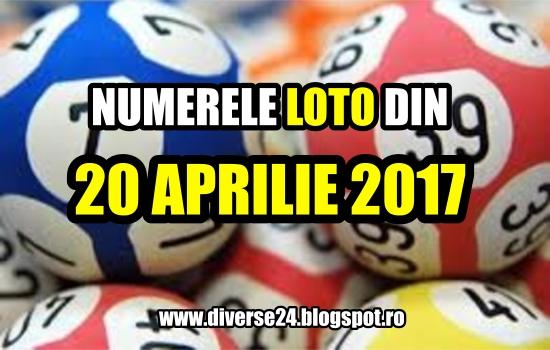 Numerele loto castigatoare din 20 aprilie 2017