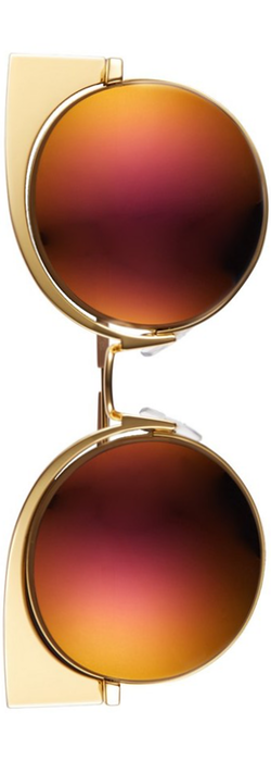 Fendi 53mm Round Cat Eye Sunglasses