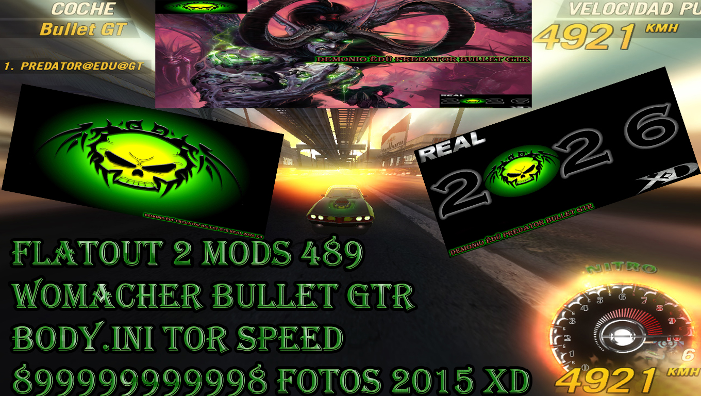 Flatout 2 Mods 489 Womacher Bullet Gtr Body ini Tor Speed