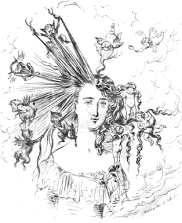 "Frontispiece from ""How to Arrange the Hair"", 1857"