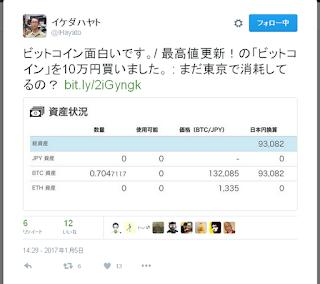 イケダ ハヤト ビットコイン