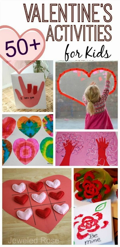 VALENTINE'S ACTIVITIES & CRAFTS FOR KIDS- tons of awesome ideas!  Pin!  #valentinescraftsforkids #valentinesactivitiesforkids