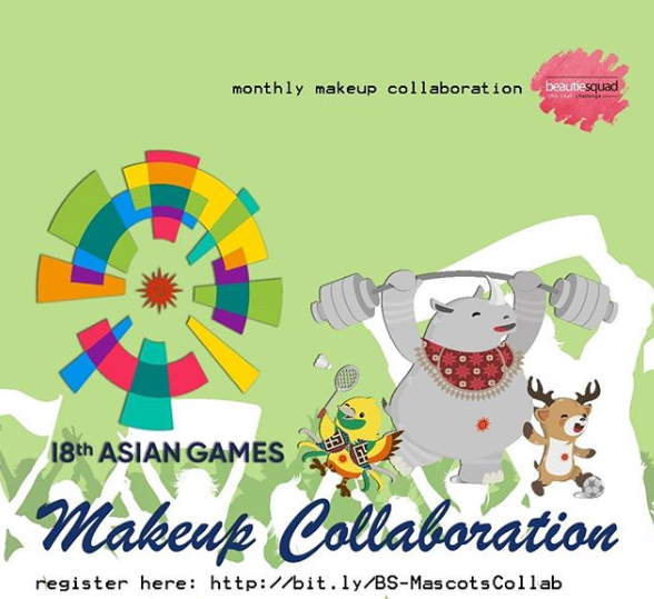 Beautiesquad Juli Collaboration: Asian Games 2018 Mascot Makeup Look