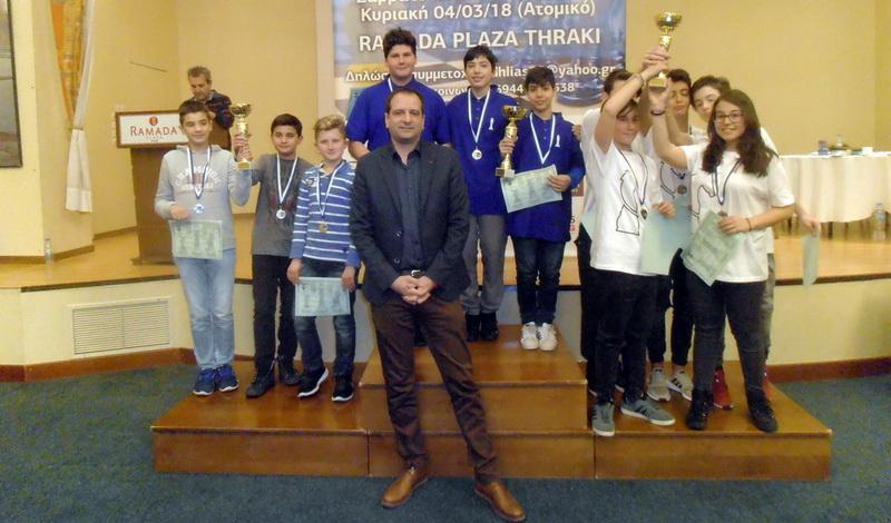 331 σκακιστές στην Αλεξανδρούπολη για τους προκριματικούς του Πανελλήνιου Σχολικού Πρωταθλήματος