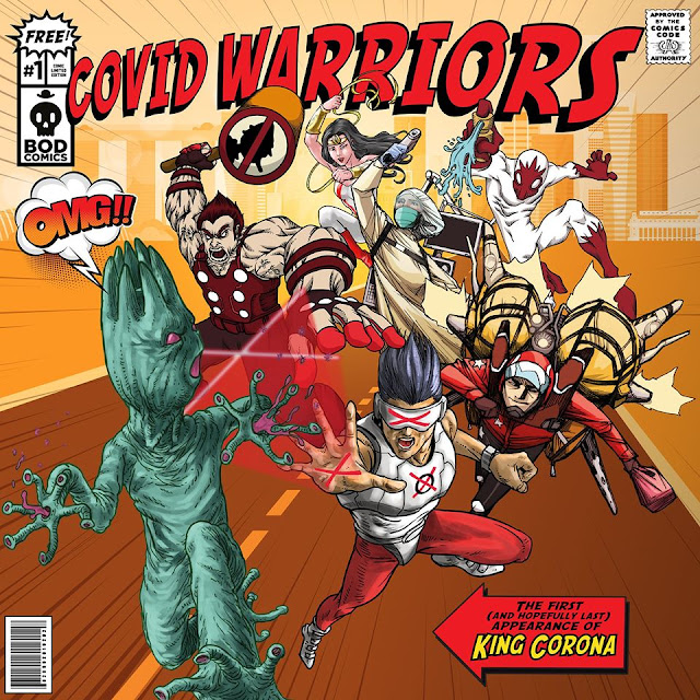 Covid Warriors Assemble Local Fictional Superheroes Created To