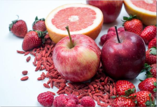 Dinh dưỡng màu đỏ cho da bị nám