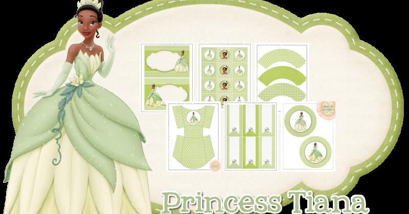 Peonies And Poppyseeds Princess Tiana Party Set