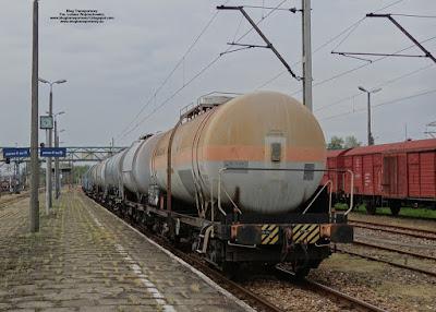 Wagony cysterny, stacja Oświęcim