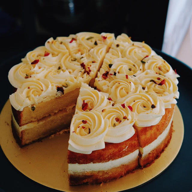 Lychee Rosewater Cake