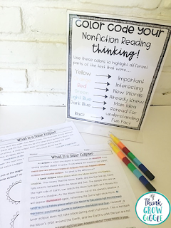 Reading strategies, nonfcition reading, freebie, fiction reading