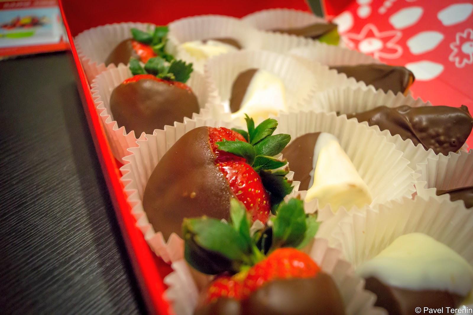 фрукты облитые шоколадом