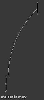 نرسم القوس بأستخدام line و Arc