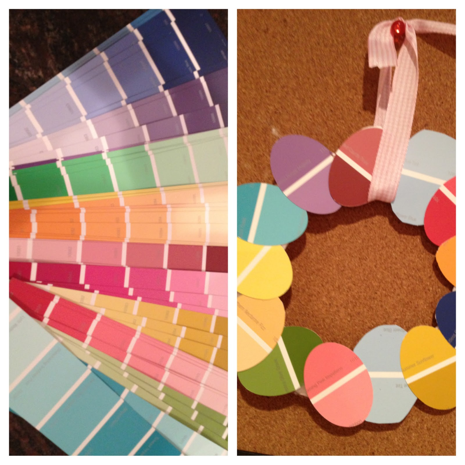 Two It Yourself: Easter Egg Wreath From Paint Sample Swatches