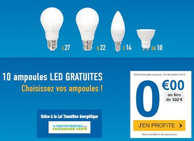 Un Pack de 10 Ampoules LED Basse-Consommation GRATUIT !